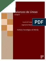 Unidad 3 Balanceo de Lineas