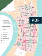 Carte de la piétonnisation de la Presqu'île de Lyon