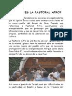 Folleto Uno, Qué Es La Pastoral Afro