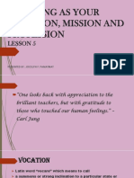 Report 5 Teaching as Your Vocation Mission