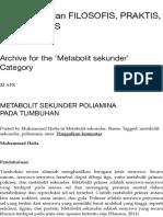 Metabolit sekunder | Dunia Pertanian