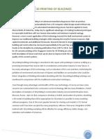 3d Printing of Buildung Report FZ