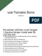 Soal Transaksi Bisnis