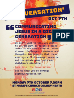 'The Conversation' Equipping Evening - Oct 7th