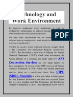 Technology and Work Environment