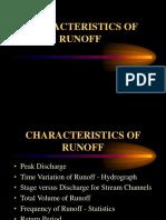 Characteristics of Run off
