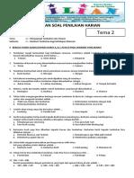 Soal Tematik Kelas 3 SD Tema 2 Subtema 1 Manfaat Tumbuhan Bagi Kehidupan Manusia Dan Kunci Jawaban (Www.bimbelbrilian.com)(1)
