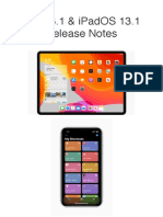 IOS & IPadOS 13.1 Release Notes