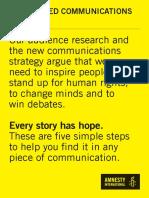 Hope-based communications checklist