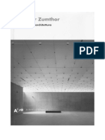 Zumthor - Pensare Architettura