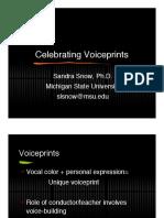 Celebrating Voiceprints