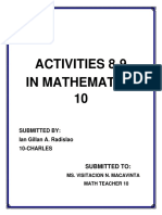 Activities 8 Math