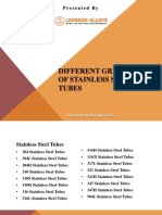 Different Grades of Stainless Steel Tubes