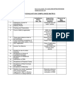 Vendor Evaluation Compliance Matrix