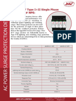 Class B +C Type II three phase Surge Protection Devices