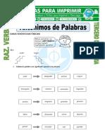Ficha Antonimos de Palabras Para Tercero de Primaria