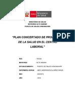 Plan Promocion de La Salud Centro Laboral