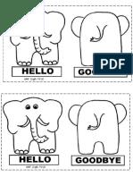 Elephant Hello-goodbye BW