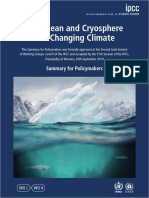 IPCC Special Report on Oceans and Cryosphere