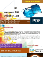 Canadian Business Fax Number List