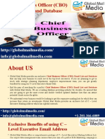 Chief Business Officer (CBO) Email List and Database