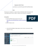 Integration With SAP Cloud
