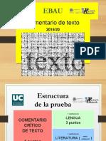 Estructura Comentario EBAU Cantabria (19/20)