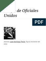 Grupo de Oficiales Unidos - Wikipedia, La Enciclopedia Libre