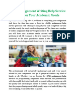 Online Assignment Writing Help Service To Cover Your Academic Needs