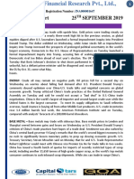 25 SEP 2019 MCX DAILY REPORT