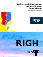 271382420 the Politics and Governance With Philippine Constitution Suffrage