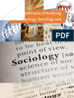 Anthropology Sociology and Political Science