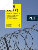 Open Secret Mounting Evidence of Europe's Compliicity in Rendition and Secret Detention Amnesty International