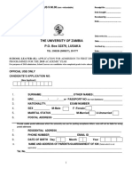 School Leaver Application Form 2019