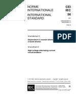 IEC 56 (1996) - Interruptores de Alta Tensión de Corriente Alterna