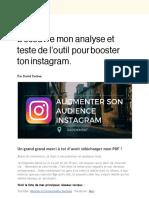 PDF Offert Instagram