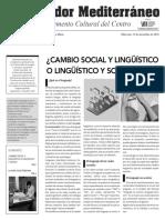 Cambio Social y Linguistico o Linguistico y Social.