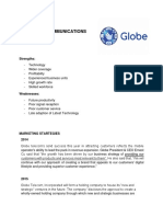 GLOBE TELECOMMUNICATIONS SWOT ANALYSIS