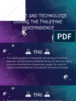 Science and Technology During the Philippine Independence