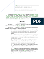 Dar Administrative Order No. 02-03