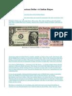 Dollar Versus Rupee