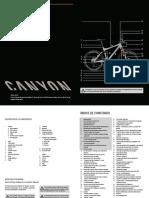 manual de MTB canyon es