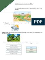 Guías de Trabajo Zonas Naturales de Chile