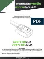 Manual Raptor 800 1200
