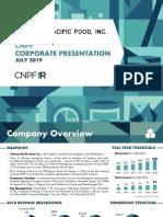 FINAL CNPF 1H19 Investor Presentation