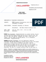 Unclassified memorandum of telephone conversation