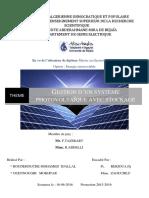 Géstion D_un Système Photovoltaique Avec Stockage