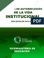 Autoevaluación de La Vida Institucional 2019-2020 Definitivo
