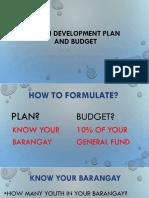 YD Plan&Budget