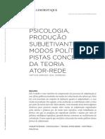 Psicologia produção e subjetividade